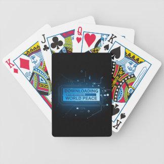 Paz de mundo da transferência baralhos de poker