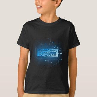 Paz de mundo da transferência camiseta