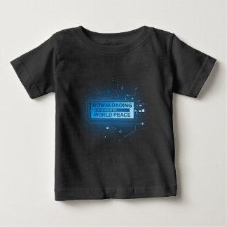 Paz de mundo da transferência camiseta para bebê