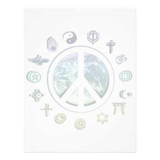 Paz de mundo panfleto personalizados