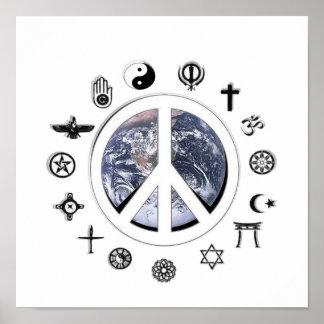 Paz de mundo pôsteres