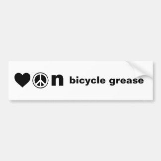 Paz do amor e autocolante no vidro traseiro da gra adesivo para carro