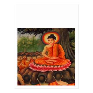 Paz   do budismo de BUDDHA Cartão Postal