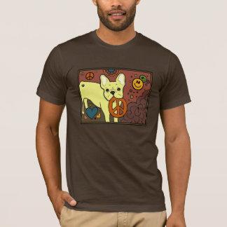 Paz do buldogue francês camiseta