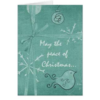 Paz do cartão de Natal do Natal