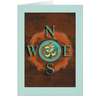 Paz do OM do compasso no cartão da terra