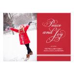 Paz e alegria do cartão com fotos | do feriado em  convites