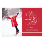 Paz e alegria do cartão com fotos   do feriado em convites