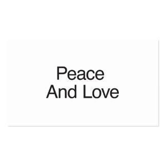 Paz e amor cartão de visita