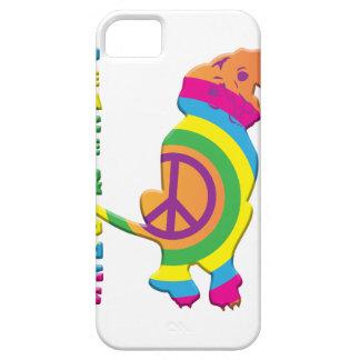 Paz e cães engraçados capas para iPhone 5