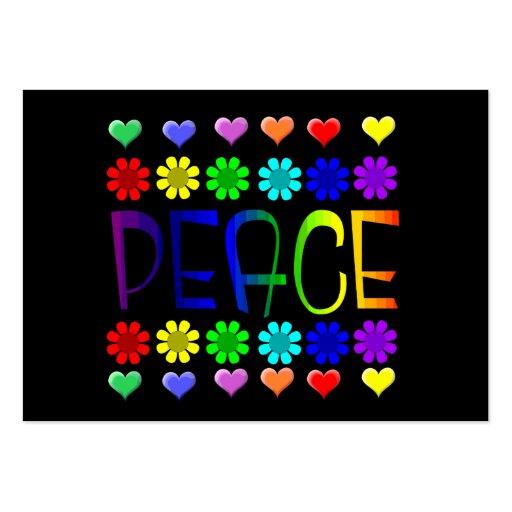 Paz e flores modelo cartões de visitas