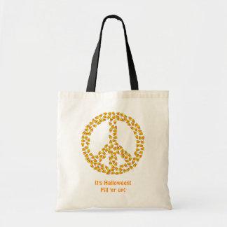 Paz e milho de doces bolsa tote