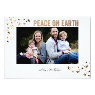 Paz em estrelas da terra convite 12.7 x 17.78cm