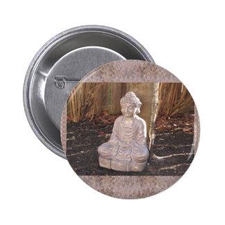 Paz espiritual budista do ídolo da estátua de bóton redondo 5.08cm