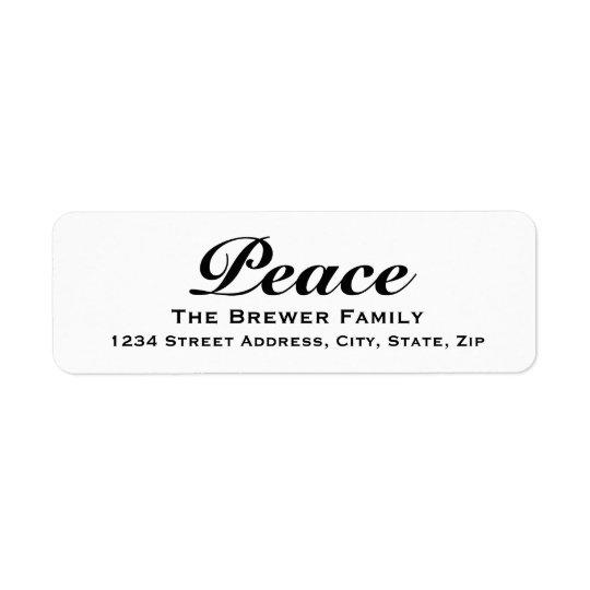 Paz Etiqueta Endereço De Retorno