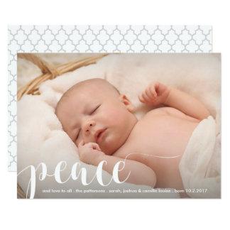 Paz, foto clássica moderna do feriado do Natal do Convite 12.7 X 17.78cm