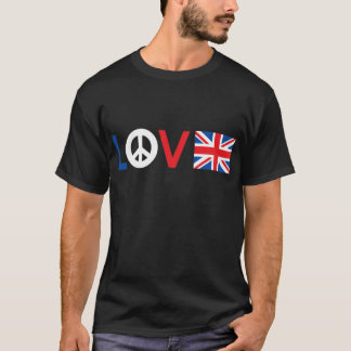Paz Grâ Bretanha do amor Camiseta