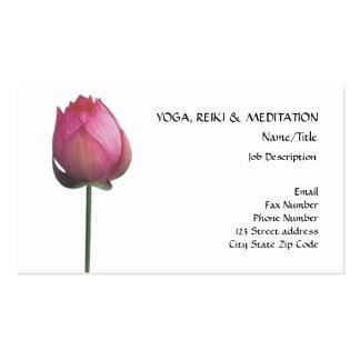 Paz l flor de Lotus lírio de água cor-de-rosa boni Modelo Cartão De Visita