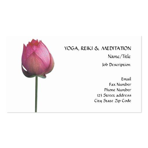 Paz l flor de Lotus/lírio de água cor-de-rosa boni Modelo Cartão De Visita