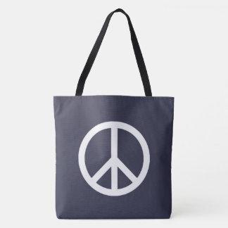 Paz legal e clássica bolsa tote