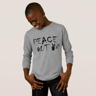Paz longa básica do t-shirt da luva dos miúdos camiseta