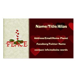 Paz Lotus Cartão De Visita