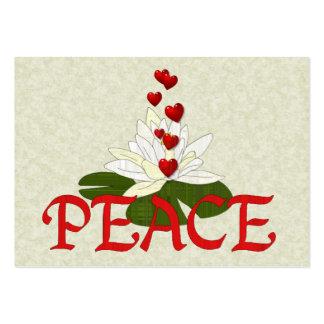 Paz Lotus Cartão De Visita Grande