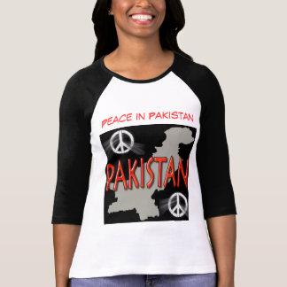 Paz na camisa das mulheres de Paquistão Camisetas