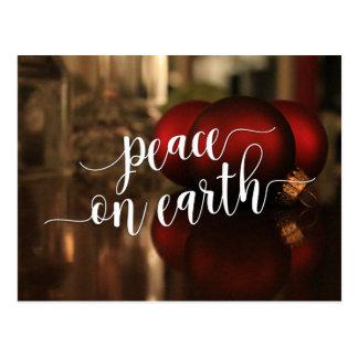 Paz na foto dos ornamento da tipografia & do cartão postal