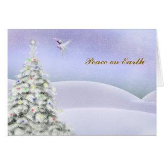 Paz na terra cartão