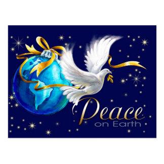 Paz na terra. Cartão customizáveis do Natal Cartoes Postais