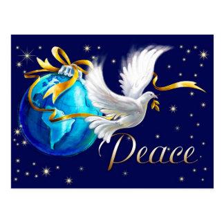 Paz na terra. Cartão customizáveis do Natal Cartões Postais
