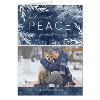 Paz na terra - cartão da foto do Natal