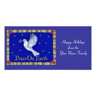 Paz na terra cartão com foto
