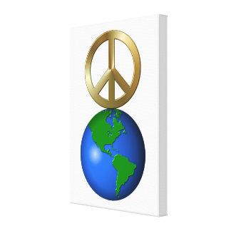 Paz na terra impressão de canvas esticadas