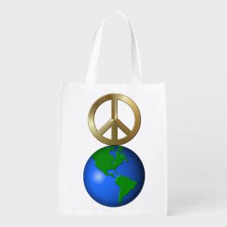 Paz na terra sacolas ecológicas para supermercado