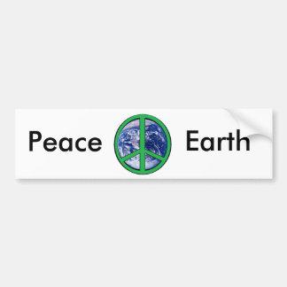 Paz na terra, verde adesivo para carro