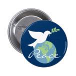 Paz no botão da terra botons