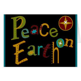 Paz no cartão da terra