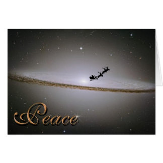 Paz no cartão de Natal da galáxia