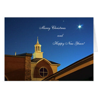 Paz no cartão de Natal da terra