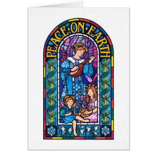 Paz no cartão de nota do Natal do Pre-Raphaelite
