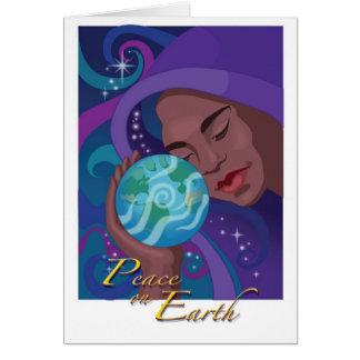 Paz no cartão do feriado da terra