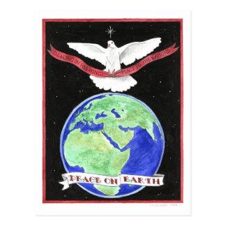 Paz no cartão inspirado da terra