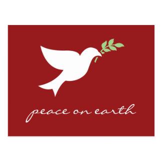 Paz no cartão liso do feriado da terra