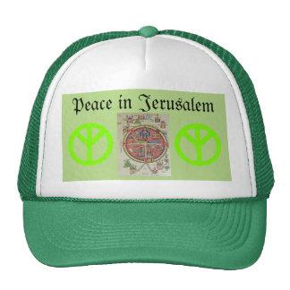 Paz no chapéu de Jerusalem Boné