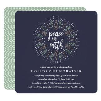Paz no convite do Fundraiser do feriado da terra  