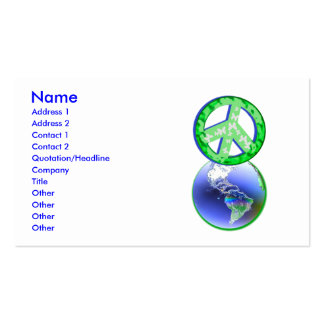 Paz no Dia da Terra - negócio Cartoes De Visita