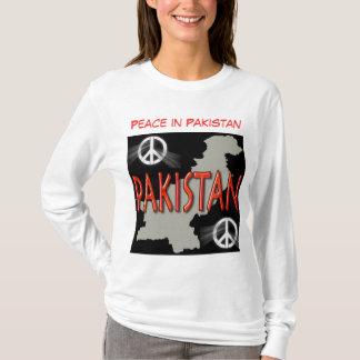 Paz no hoodie das mulheres de Paquistão Camiseta