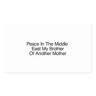 Paz no Médio Oriente meu irmão Modelos Cartoes De Visita